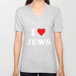 I Love Jews Unisex V-Neck