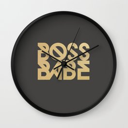 Boss Babe Wall Clock