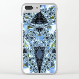 Electra Blue Clear iPhone Case
