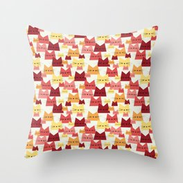 Nala Cat Pattern Cherry Throw Pillow