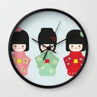 Kokeshi Wall Clock