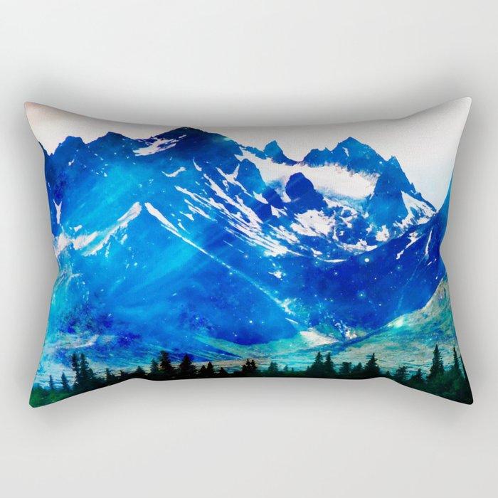 Galaxy Mountain V2 #society6 #decor #buyart Rectangular Pillow