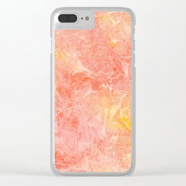 Handpainted watercolor background. Orange and yellow texture Clear iPhone Case