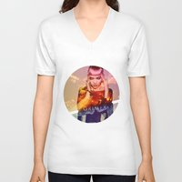 grimes V-neck T-shirts featuring GRIMES by OmaPRINTS