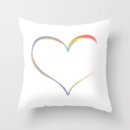 Heart Semicolon Art Mental Health Depression Suicide Prevention Awareness Gifts T-shirt Design Throw Pillow