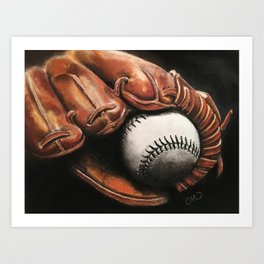 Baseball and Glove Art Print