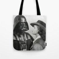 casablanca Tote Bags featuring Darth Vader in Casablanca by Luigi Tarini