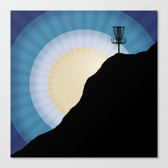 Basket On A Mountain Canvas Print