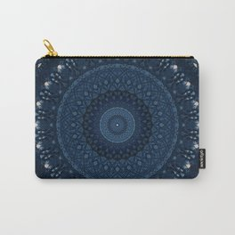 Mandala in light and dark blue tones Carry-All Pouch