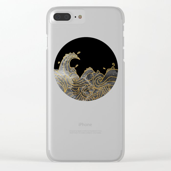 Abstract Wave 2 Clear iPhone Case