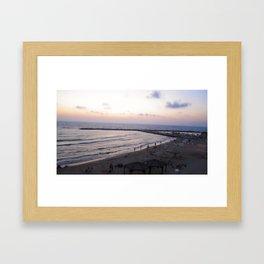Beachy Tel Aviv Framed Art Print