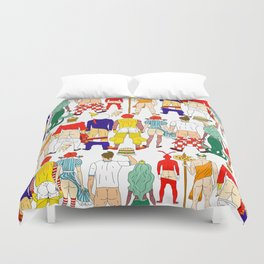 Fast Food Butts Mascots Duvet Cover