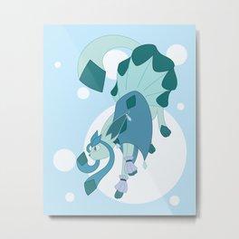 Ice Steampunk Fox Metal Print