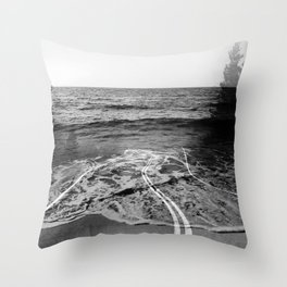 Coastal Highway Throw Pillow