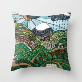 'Land's End to John O'Groats' Throw Pillow