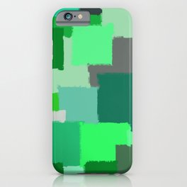 Green Patchwork Squares iPhone Case