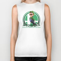super smash bros Biker Tanks featuring Luigi - Super Smash Bros. by Donkey Inferno