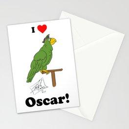 I love Oscar without a background Stationery Cards