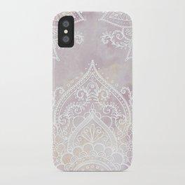 MANDALA ON PINK MARBLE iPhone Case