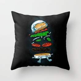 The Astronaut Burger Throw Pillow
