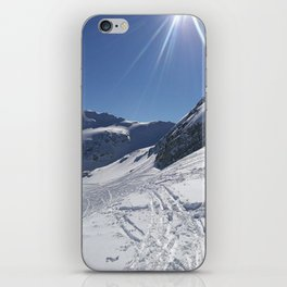 Up here, with sun and snow iPhone Skin