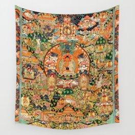 Life Of Buddha Thangka Mandarin Forest Wall Tapestry