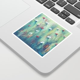 Dancing Field of Flowers Sticker