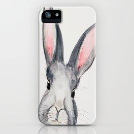 Gray Bunny, Nursery, Easter, Rabbit, Animal, Cute iPhone Case
