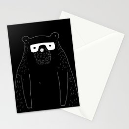 Bear with glasses Stationery Cards