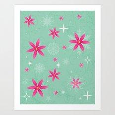 Elsa Frozen Fever Cape pattern Art Print