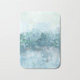 Choppy Blue Ocean Water Bath Mat