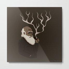 Darwin ponders evolution Metal Print