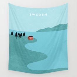 Sweden Wall Tapestry