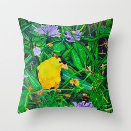 The Yellow Finch Throw Pillow