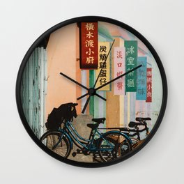 Bicycle Shadows Wall Clock
