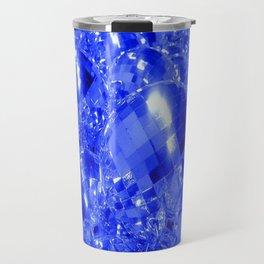Blue Ornaments Travel Mug