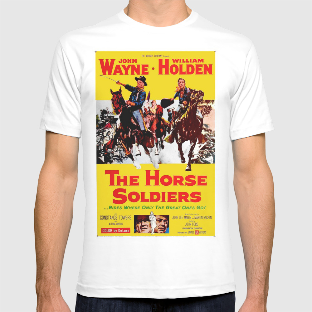 Vintage Movie Posters, The Horse Soldiers T-shirt by Esotericaartagency TSR8648385