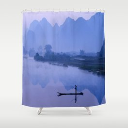 LI RIVER AT DAWN-GUILIN CHINA Shower Curtain