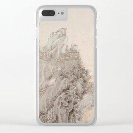 White Crane Mountain Clear iPhone Case