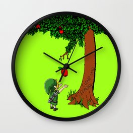 Link Zelda with an apple tree iPhone 4 4s 5 5c, ipod, ipad, pillow case tshirt and mugs Wall Clock