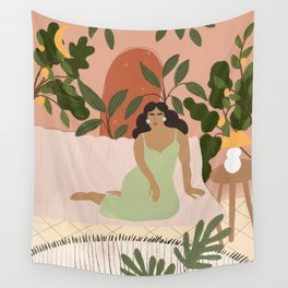 Life With Plants Wall Tapestry