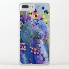 Abstract Planet Clear iPhone Case