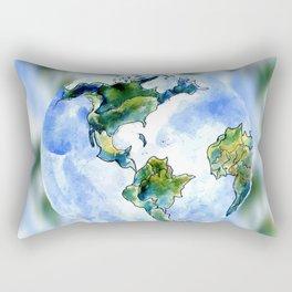Hand Drawn Earth Rectangular Pillow