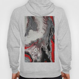 No Dice - Black, Silver and Red Abstract Hoody