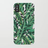 decorative iPhone & iPod Cases featuring Tropical Glam Banana Leaf Print by Nikki