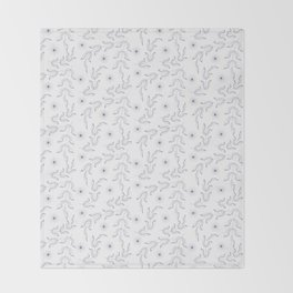 Outline lear and spice, pattern, floral, flower, Throw Blanket
