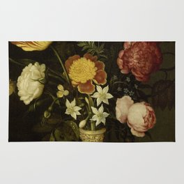 Ambrosius Bosschaert - Still life with flowers in a Wan-Li vase (1619) Rug