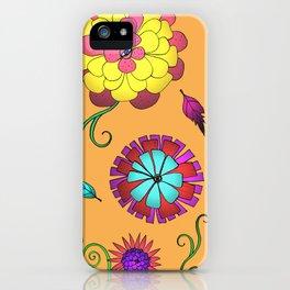 Crazy Daisy vitamin C pattern iPhone Case