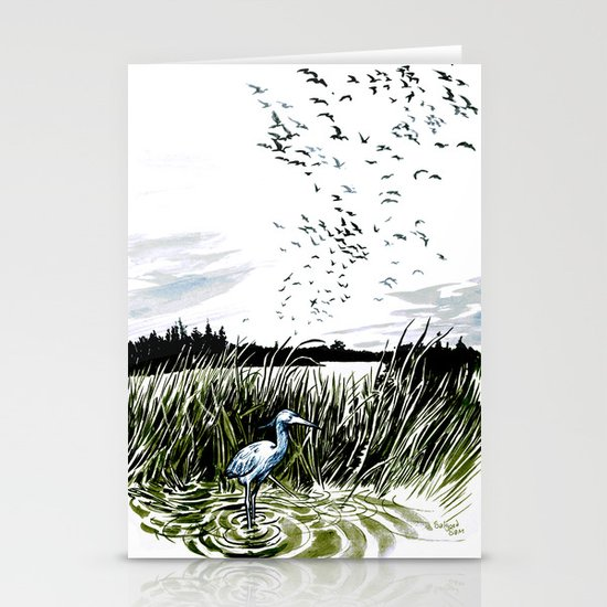 Dream of the Chicago wetlands. Stationery Cards