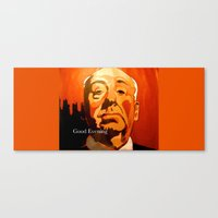 hitchcock Canvas Prints featuring Hitchcock  by Jonny Moochie
